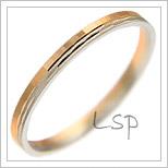 Snubní prsteny LSP 2622 kombinované zlato