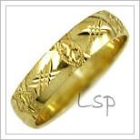 Snubní prsteny LSP 2627 žluté zlato