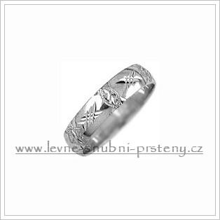 Snubní prsteny LSP 2627b bílé zlato