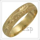 Snubní prsteny LSP 2628 žluté zlato