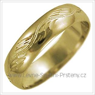 Snubní prsteny LSP 2630 žluté zlato
