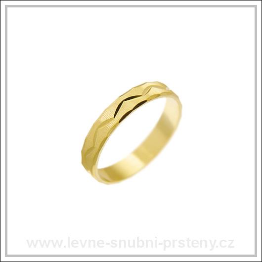 Snubní prsteny LSP 2631 žluté zlato