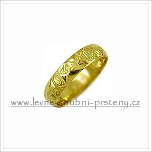 Snubní prsteny LSP 2648 žluté zlato