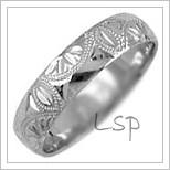 Snubní prsteny LSP 2648b bílé zlato