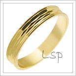 Snubní prsteny LSP 2650 žluté zlato