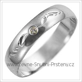 Snubní prsteny LSP 2652b bílé zlato