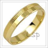 Snubní prsteny LSP 2658 žluté zlato