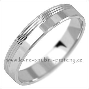 Snubní prsteny LSP 2658b bílé zlato