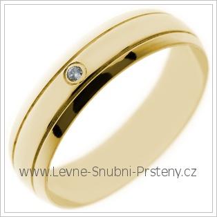 Snubní prsteny LSP 2660 žluté zlato
