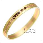 Snubní prsteny LSP 2662 kombinované zlato