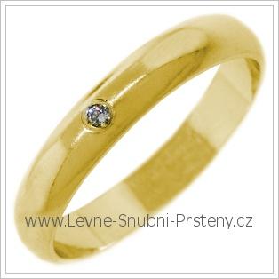 Snubní prsteny LSP 2663 žluté zlato