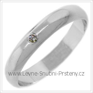 Snubní prsteny LSP 2663b bílé zlato
