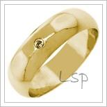 Snubní prsteny LSP 2666 žluté zlato