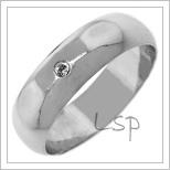 Snubní prsteny LSP 2666b bílé zlato