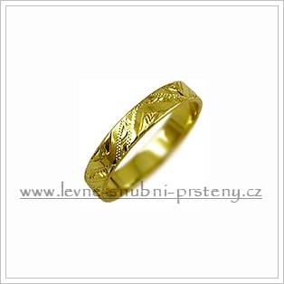 Snubní prsteny LSP 2668 žluté zlato