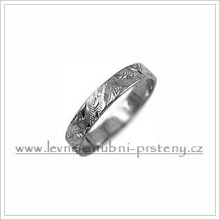 Snubní prsteny LSP 2668b bílé zlato