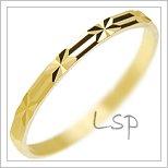 Snubní prsteny LSP 2671 žluté zlato