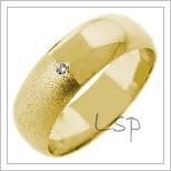 Snubní prsteny LSP 2677 žluté zlato