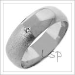 Snubní prsteny LSP 2677b bílé zlato