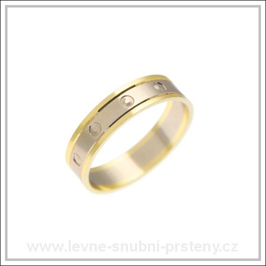Snubní prsteny LSP 2678 kombinované zlato