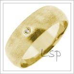 Snubní prsteny LSP 2683 žluté zlato
