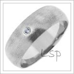 Snubní prsteny LSP 2683b bílé zlato