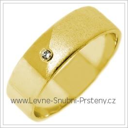 Snubní prsteny LSP 2685 žluté zlato