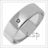 Snubní prsteny LSP 2685b bílé zlato