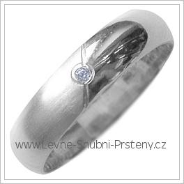 Snubní prsteny LSP 2687b bílé zlato