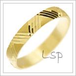 Snubní prsteny LSP 2690 žluté zlato
