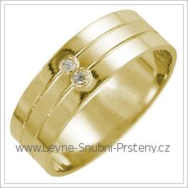 Snubní prsteny LSP 2695 žluté zlato