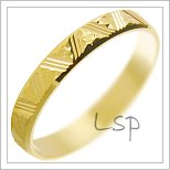 Snubní prsteny LSP 2701 žluté zlato
