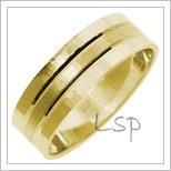 Snubní prsteny LSP 2705 žluté zlato