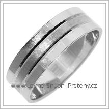 Snubní prsteny LSP 2705b bílé zlato