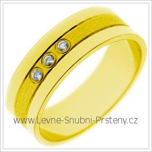 Snubní prsteny LSP 2707 žluté zlato