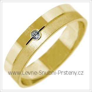 Snubní prsteny LSP 2710 žluté zlato