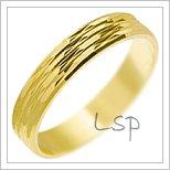 Snubní prsteny LSP 2711 žluté zlato