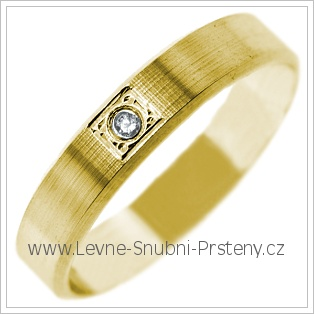 Snubní prsteny LSP 2716 žluté zlato