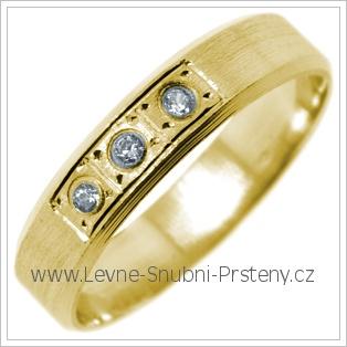 Snubní prsteny LSP 2718 žluté zlato