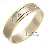 Snubní prsteny LSP 2720 kombinované zlato