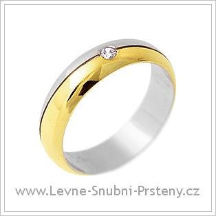 Snubní prsteny LSP 2721 - kombinované zlato