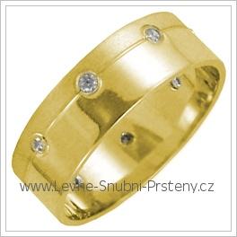 Snubní prsteny LSP 2722 žluté zlato
