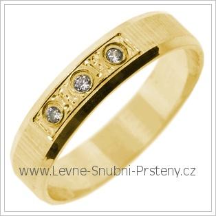Snubní prsteny LSP 2725 žluté zlato