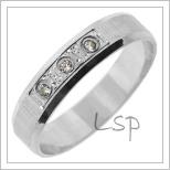 Snubní prsteny LSP 2725b bílé zlato