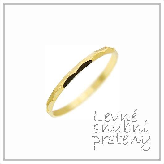 Snubní prsteny LSP 2729 žluté zlato