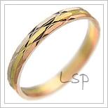 Snubní prsteny LSP 2737 kombinované zlato