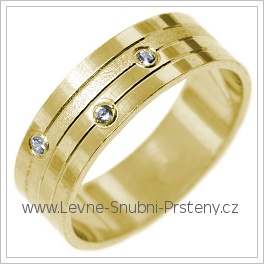 Snubní prsteny LSP 2740 žluté zlato