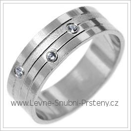 Snubní prsteny LSP 2740b bílé zlato