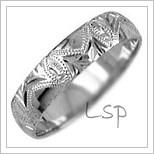 Snubní prsteny LSP 2742b bílé zlato