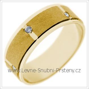 Snubní prsteny LSP 2743 žluté zlato